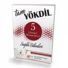 Pelikan Yayınları Tam YÖKDİL Sağlık Bilimleri 5 Çözümlü Deneme Sınavı