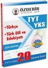 Özdebir Yayınları YKS 1.Oturum TYT Türkçe Türk Dili Edebiyatı Çek Kopar 20 Deneme Sınavı
