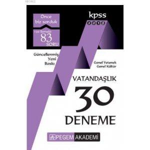 Pegem Yayınları 2018 KPSS Vatandaşlık 30 Deneme