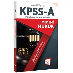 657 Yayınları KPSS A Grubu Medeni Hukuk Konu Anlatımı