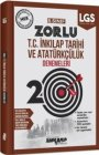 Ankara Yayıncılık 8. Sınıf LGS T.C. İnkılap Tarihi ve Atatürkçülük 20 Zorlu Denemeleri