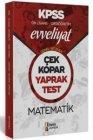 İsem Yayınları 2020 KPSS Ortaöğretim Ön Lisans Evveliyat Genel Yetenek Matematik Çek Kopar Yaprak Test