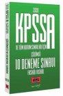 Yargı Yayınları 2020 KPSS A Grubu ve Tüm Kurum Sınavları İçin Çözümlü 10 Fasikül Deneme Sınavı