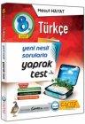 Çanta Yayınları 8. Sınıf Türkçe Yaprak Test