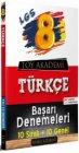 Toy Akademi Yayınları 8. Sınıf LGS Türkçe Başarı Denemeleri