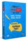 Data Yayınları 2021 KPSS Genel Yetenek Genel Kültür Çek Kopar Yaprak Test