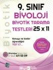 Biyotik Yayınları 9. Sınıf Biyoloji 25 x 11 Biyotik Tarama Testleri