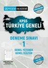Pegem Yayınları 2021 KPSS Genel Kültür Genel Yetenek Türkiye Geneli Deneme Sınavı 1