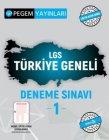 Pegem Yayınları LGS Türkiye Geneli Deneme Sınavı 1
