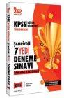 Yargı Yayınları 2022 KPSS Eğitim Bilimleri Tüm Dersler Tamamı Çözümlü 7 Deneme